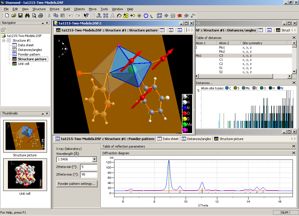 《晶体结构数据分析软件》