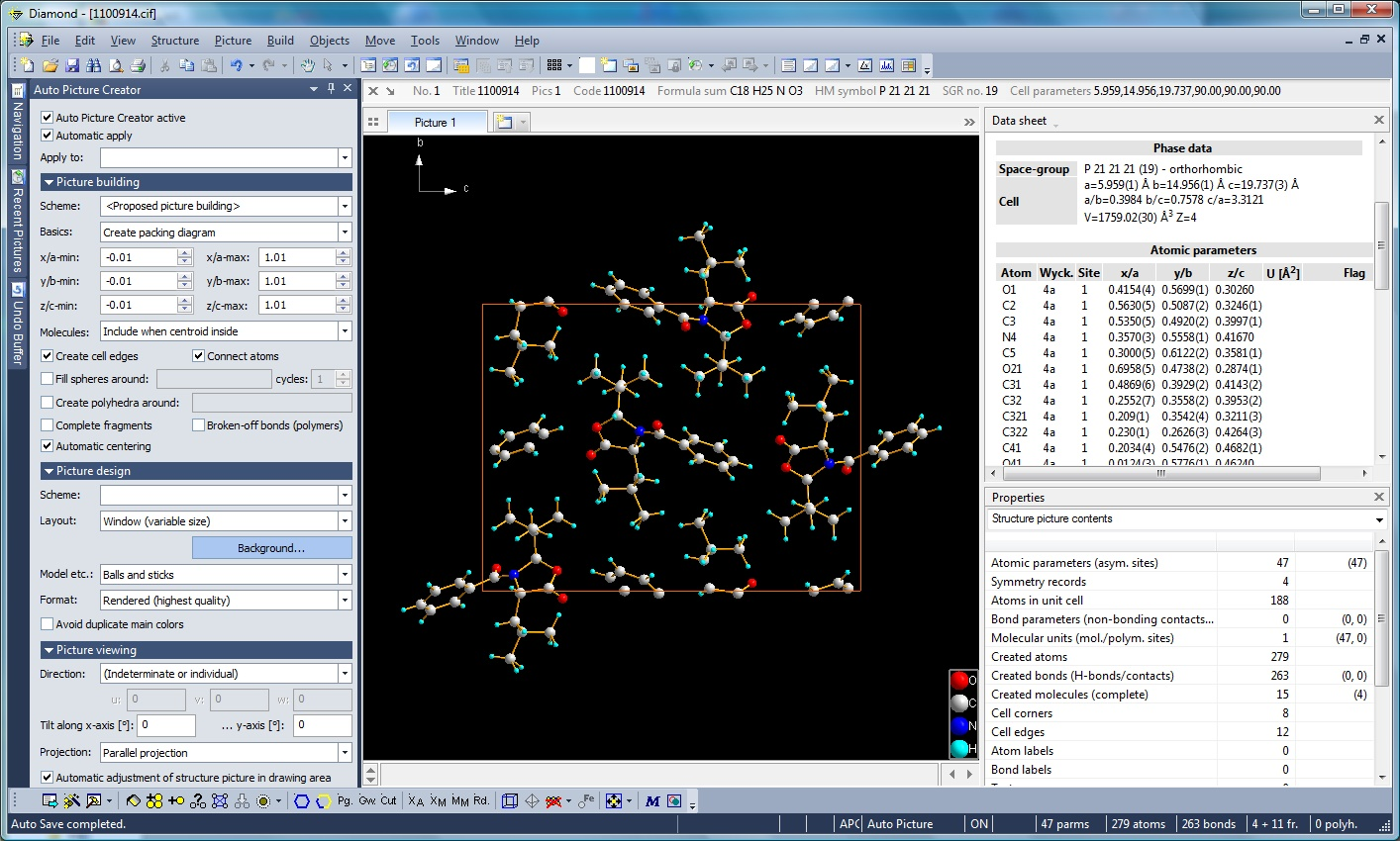 Diamond Version 4 Automatic And Batch Structure Picture Creation